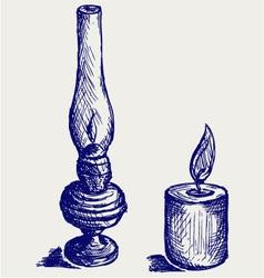 Kerosene lamp vector image vector image