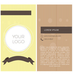 textured business card vector image vector image