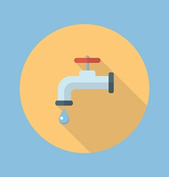 Water tap flat icon vector image vector image