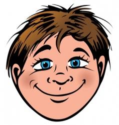 boys face vector image