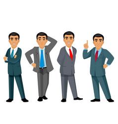 four businessmen on white background vector image