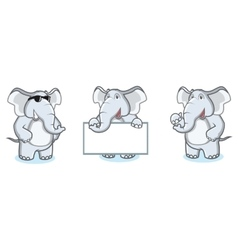 Gray Elephant Mascot happy vector image vector image