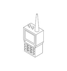 Radio set icon isometric 3d style vector image vector image