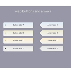 web buttons with light colors vector image vector image