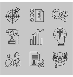 Flat Line Icons for Web Development vector image