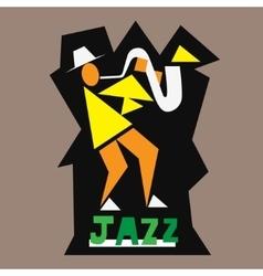 jazz musician logo vector image