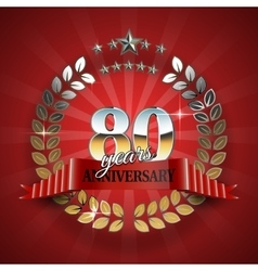 Celebrative Golden Frame for 80th Anniversary vector image vector image