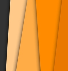 Orange overlap layer paper material design vector image vector image