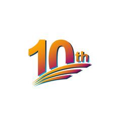 10 th anniversary elegant celebration template vector