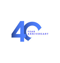 40 years anniversary celebration blue gradient vector