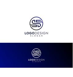 Abstract letter s logo-s logo design vector