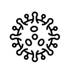 Antibodies attacking virus line icon vector