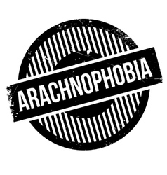 Arachnophobia rubber stamp vector