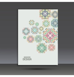 Beautiful pattern on printed product vector
