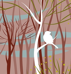 Bird in forest vector