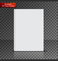 Blank book cover on transparent background vector