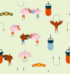 boxing gym pattern hall boxing background and vector image