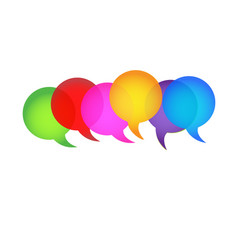 Bubble speech group communication icon vector