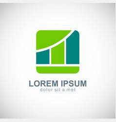 Business finance progress logo vector