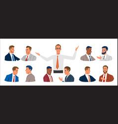 Business people portrait set various vector
