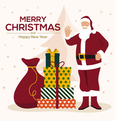 christmas cards design flat 4 vector image