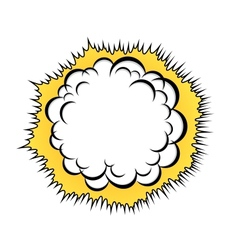 cloud after explosion vector image