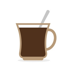 Coffee mug Cup of hot coffee and a spoon vector