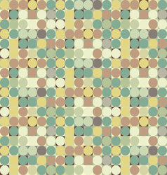 Colorful circle square geometric seamless pattern vector