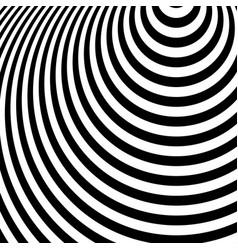 Concentric circles ovals radial radiating circles vector
