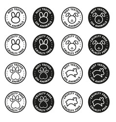 Cruelty free - not tested on animals sign icon vector