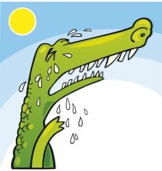 crying crocodile vector image