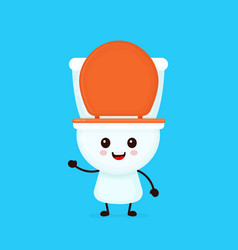 cute funny smiling happy toilet bowl vector image