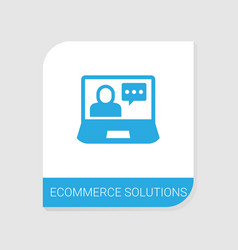 Editable filled ecommerce solutions icon from vector