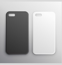 empty black and white smartphone cases set vector image