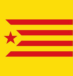Flag of estelada red catalonia of spain vector