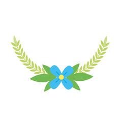 flower leaves decoration vector image