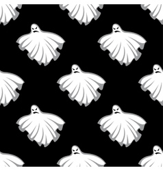 Flying Halloween ghosts seamless pattern vector