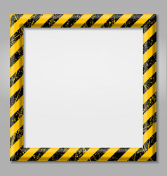 frame with line yellow and black color caution vector image