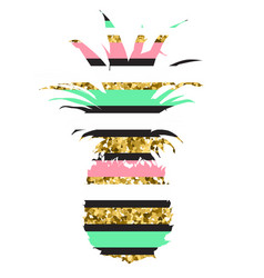 hand drawn with funky striped vector image