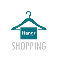 hangr shopping logo vector image