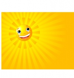 Happy smiling sun summer background vector