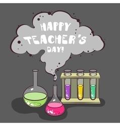 Happy teachers day chemistry vector
