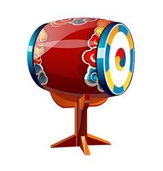 Icon korean drum vector
