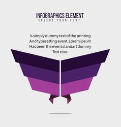 Infographics element template design vector