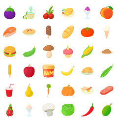 jam icons set cartoon style vector image