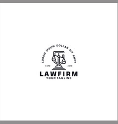 Law firm logo design template vector