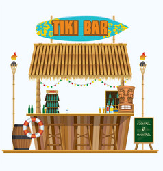 Mini tiki bar vector