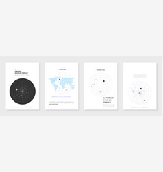 Minimal brochure templates infographic vector