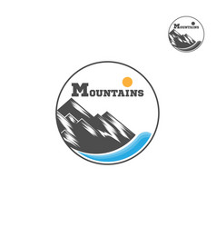 Mountain logo liner design logo mountain and vector