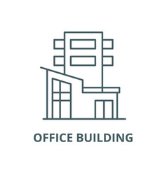 Office building line icon linear concept vector